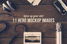 11 Hero Mockup Images