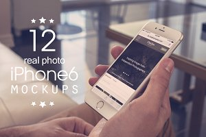 12 iPhone 6/6s Real Photo Mockups