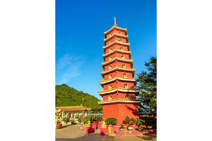 Pagoda at the Ten Thousand Buddhas Monastery in Hong Kong