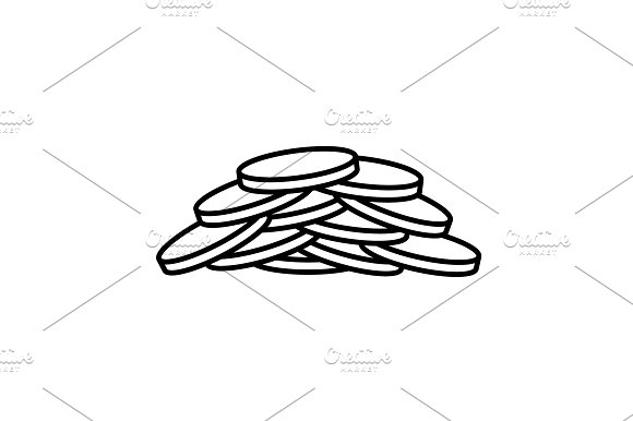 Pile Of Coins.Vector Illustration