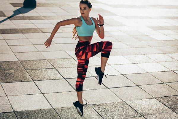 Sports Stock Photos: Jacob Lund Photography - Woman doing cardio interval training
