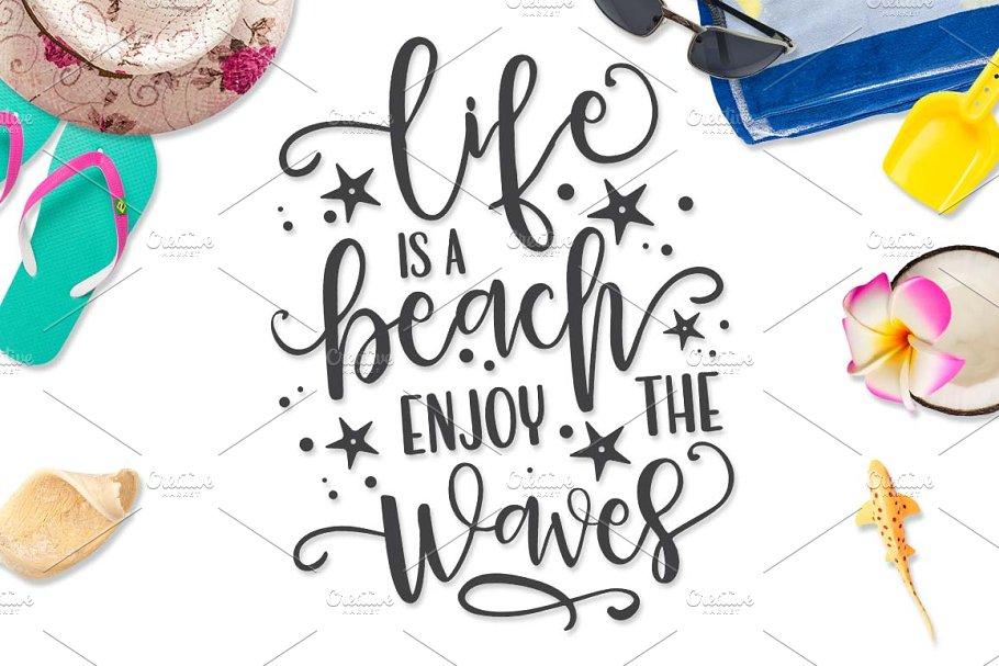 83e99c11c Life is a beach Enjoy the Waves SVG ~ Illustrations ~ Creative Market