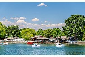 Qianhai lake in Shichahai area of Beijing