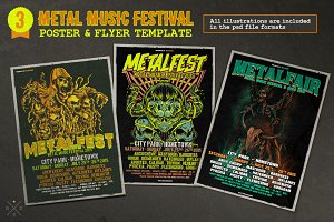 Metal Music Festival Poster & Flyer