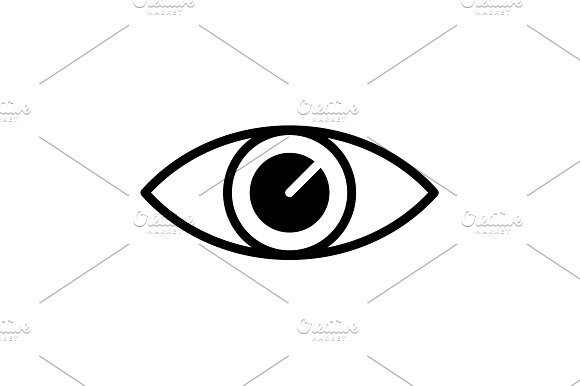 Eye Icon Vector Illustration Black