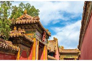 Roof decorations in the Forbidden City, Beijing