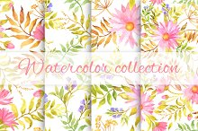 Floral watercolor collection