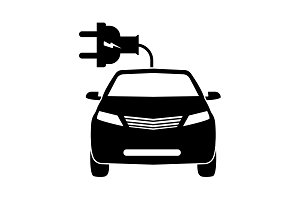 electric car line Icon. vector