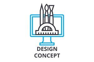 design concept thin line icon, sign, symbol, illustation, linear concept, vector