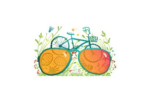 Summer Bicycle Sunglasses Recreation