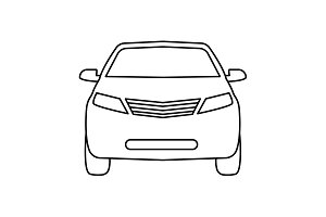 Car line icon. vector illustration