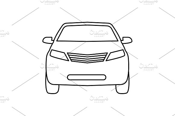 Car Line Icon Vector Illustration