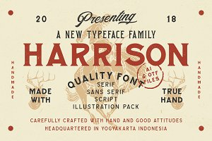 Harrison Font Family (Intro Sale)
