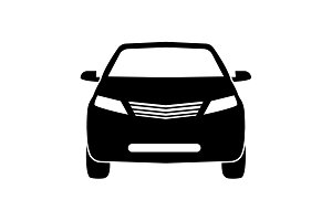 Car icon. vector illustration black