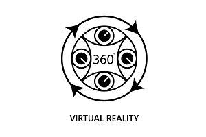 virtual reality icon. vector