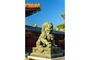 Chinese guardian lion at the Summer Palace - Beijing