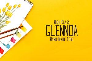 Glennda Handmade 5 Font Family