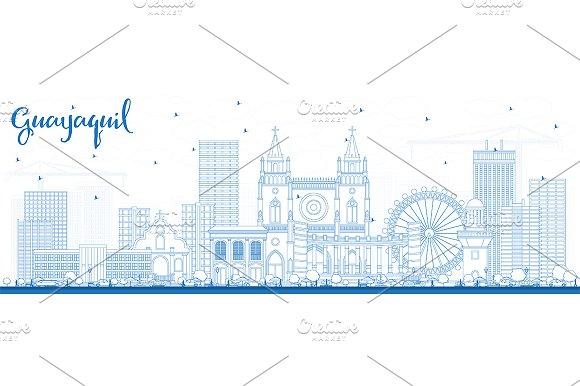 Outline Guayaquil Ecuador City