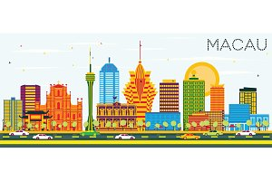 Macau China City Skyline