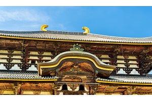 Great Buddha Hall of Todai-ji temple in Nara
