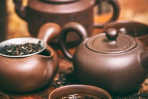 Chinese tea ceremony concept