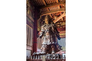 Komokuten, a guardian at Todaiji Temple in Nara