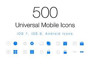 500 Universal Mobile Icons