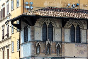 Florence street view, Tuscany, Italy