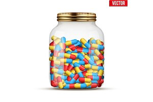 Glass Jars with pills