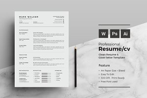 Resume/CV - Professional