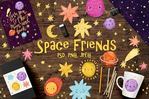 Space clip art/ Solar sistem kid