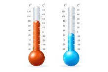 Vector thermometr icon set