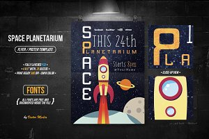 Space Planetarium - Flyer/Poster