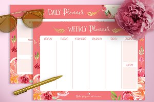 Amaryllis Daily & Weekly Planners