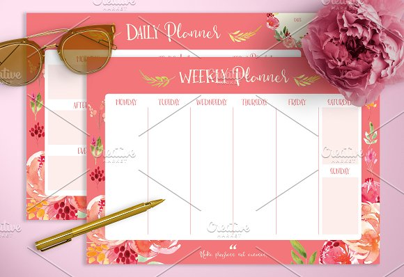 Amaryllis Daily Weekly Planners