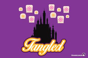 Digital Clipart Tangled Rapunzel