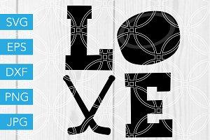 Love Hockey SVG Ice Hockey SVG