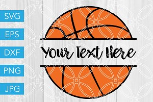 Basketball SVG Custom Text Cut File