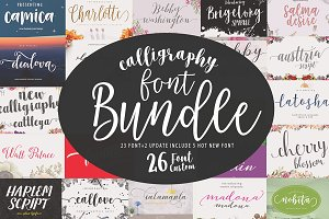 Font Bundle Caligraphy 85%Off
