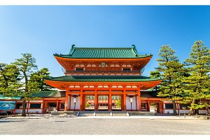 Otenmon, the Main Gate of Heian Shrine in Kyoto