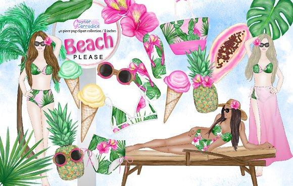 Beach Fashion Clipart Collection
