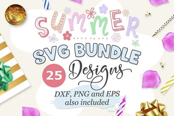 Summer Bundle SVG DXF PNG EPS