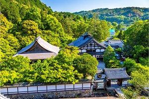 View of Tenjuan Garden in Kyoto