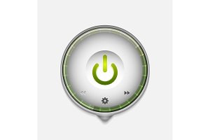 Start power button, ui icon design, on off symbol