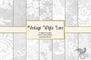 Vintage White Lace Digital Paper