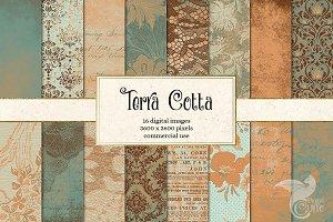 Terra Cotta Digital Paper