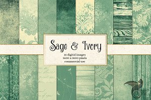Sage and Ivory Digital Paper