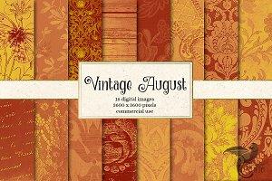 Vintage August Digital Paper