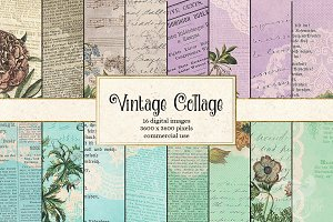 Vintage Collage Digital Paper