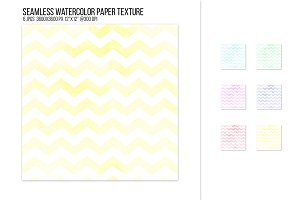 Seamless watercolor chevron pattern.